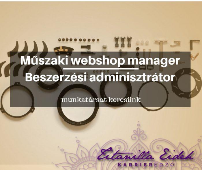 webshop manager alla